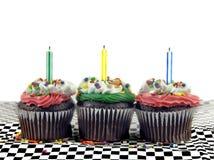 Drie Cupcakes Royalty-vrije Stock Afbeeldingen