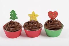 Drie Cupcakes Stock Foto's