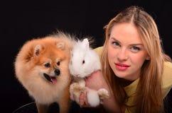 Drie cuties Royalty-vrije Stock Foto