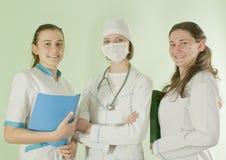 Drie dame artsen royalty-vrije stock foto