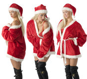 Drie de Kerstman royalty-vrije stock foto's