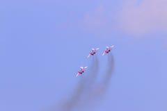 Drie de vechtersvliegtuigen van Mig 29 Stock Foto