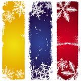 Drie de winterbanners Stock Foto's