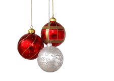 Drie decoratieballen Stock Foto