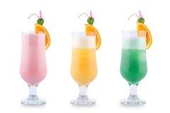 Drie decoratieve cocktails Royalty-vrije Stock Afbeelding
