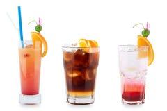Drie decoratieve cocktails Stock Foto's