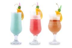 Drie decoratieve cocktails Royalty-vrije Stock Foto