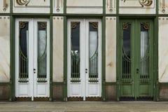 Drie deuren neer Stock Afbeelding