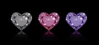 Drie diamanten stock illustratie