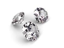 Drie diamanten Royalty-vrije Stock Foto's