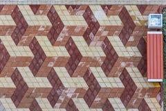 Drie dimeshionalachtergrond van steenbestrating Stock Foto