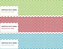 Reeks van drie diverse bannerontwerpen stock illustratie