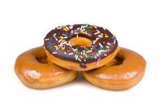 Drie doughnuts Royalty-vrije Stock Afbeeldingen