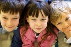 Drie in een Rij Stock Fotografie