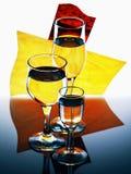Drie eenvoudige glazen Stock Foto's