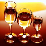 Drie eenvoudige glazen Royalty-vrije Stock Afbeelding
