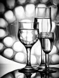 Drie eenvoudige glazen Stock Foto