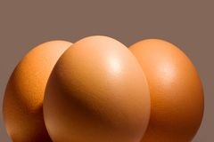 Drie eieren Stock Foto