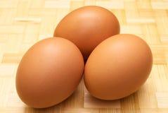 Drie eieren Stock Afbeeldingen