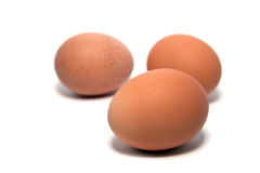 Drie eieren stock foto's