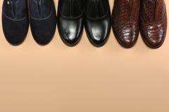 Drie Elegante klassieke schoenen Royalty-vrije Stock Afbeelding