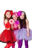 Drie elegante meisjes royalty-vrije stock fotografie