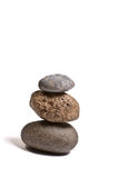 Drie evenwichtige stenen Royalty-vrije Stock Foto's