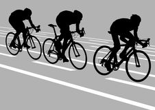 Drie fietsers stock illustratie