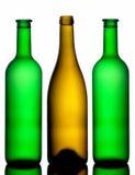 Drie flessen Stock Foto's