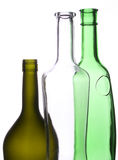 Drie flessen royalty-vrije stock afbeeldingen