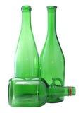 Drie flessen Stock Afbeeldingen