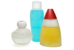 Drie Flessen Parfume Stock Afbeelding