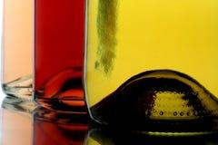 Drie Flessen van de Wijn Stock Foto's