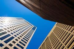 Drie gebouwen Royalty-vrije Stock Afbeelding