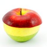 Drie-gekleurde appel. Stock Afbeeldingen