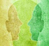 Drie gekleurde hoofden Royalty-vrije Stock Afbeeldingen