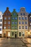Drie gekleurde huizen Royalty-vrije Stock Foto