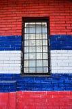 Drie gekleurde muur Stock Afbeelding