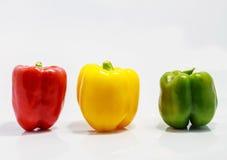 Drie gekleurde peper Royalty-vrije Stock Afbeelding