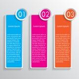 Drie gekleurde toespraakbanners Stock Afbeeldingen