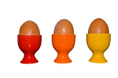 Drie Gekookte Eieren Stock Fotografie