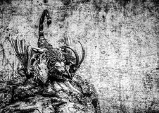 Drie geleid manticore monster stock afbeelding