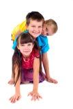 Drie Gelukkige Kinderen Stock Afbeelding