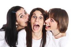 Drie gelukkige Mensen Stock Afbeeldingen