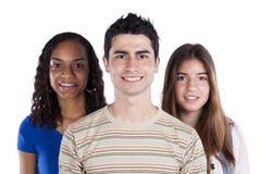 Drie gelukkige tieners Stock Foto
