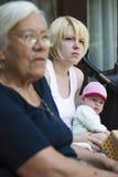 Drie generatieportret Stock Foto's