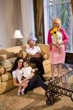 Drie generaties Royalty-vrije Stock Afbeeldingen
