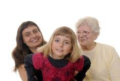 Drie generaties Stock Afbeelding