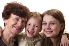 Drie generaties Royalty-vrije Stock Foto