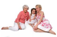 Drie Generaties Royalty-vrije Stock Afbeelding